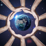 Conceptual symbol of the Earth Royalty Free Stock Image
