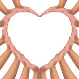 Conceptual symbol of love. Stock Image