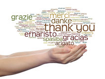 Conceptual thank you word cloud isolated Royalty Free Stock Photography