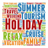 Conceptual tourism or travel  word cloud Stock Image