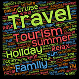 Conceptual tourism or travel  word cloud Royalty Free Stock Photo