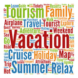 Conceptual tourism or travel  word cloud Stock Photos