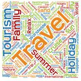 Conceptual tourism word cloud Stock Image