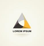 Conceptual triangle icon, template logo Stock Photography