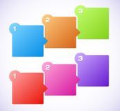 Conceptual vector illustration of colorful cubes. With arrows Royalty Free Stock Image