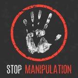 Vector illustration. Social problems. Stop manipulation. Stock Photo