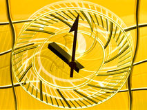 Conceptual view of a railway station clock  – Time goes by quickly Royalty Free Stock Image