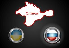 Conceptual view of the situation in Crimea Stock Photo