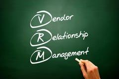 Conceptual VRM acronym Vendor relationship management on blackbo Stock Images