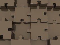 Conceptual wall structure of puzzle Stock Image