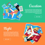 Conceptual Web Banners for Travel Agency Stock Photos