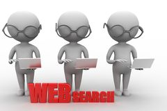 Conceptual of Web Search Stock Photo