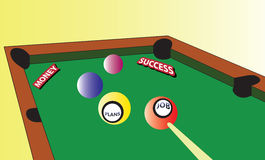 Conceptual work billiards Royalty Free Stock Images