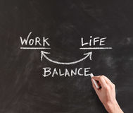 Conceptual Work and Life Balance on Board Stock Photos