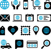 Conceptual World icons Stock Image
