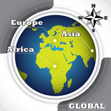 Conceptual world map. Royalty Free Stock Images