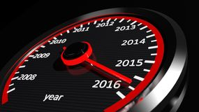 Conceptual 2016 year. Conceptual 2016 new year speedometer Vector Illustration
