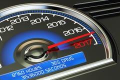Conceptual 2017 year speedometer Stock Image