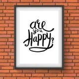 Conceptual Are You Happy Texts on a Frame Stock Photos