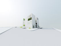 Conceptueel Architectuurontwerp Stock Fotografie