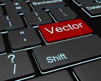 Conceptueel beeld Backlit toetsenbord met zwarte en rode knopen Stock Foto's