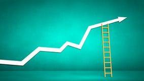 Conceptueel beeld met ladder stock foto