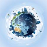 Conceptueel beeld van Aardeplaneet Royalty-vrije Stock Fotografie