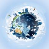 Conceptueel beeld van Aardeplaneet Stock Foto's