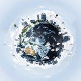 Conceptueel beeld van Aardeplaneet Royalty-vrije Stock Foto