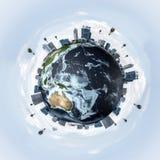 Conceptueel beeld van Aardeplaneet Royalty-vrije Stock Afbeelding