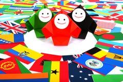 Conceptueel beeld van internationale relaties royalty-vrije stock afbeeldingen