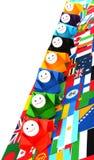 Conceptueel beeld van internationale relaties Stock Foto's