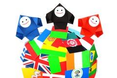 Conceptueel beeld van internationale relaties Stock Afbeeldingen