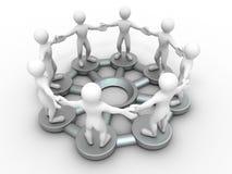 Conceptueel beeld van mededelingen of groepswerk. vector illustratie