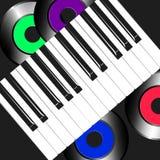 Conceptueel beeld van muziekopname vector illustratie