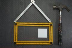 Conceptueel bouw en vernieuwingsstilleven Royalty-vrije Stock Foto