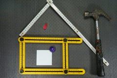 Conceptueel bouw en vernieuwingsstilleven Royalty-vrije Stock Fotografie
