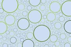 Conceptueel cirkels als achtergrond, bellen, gebied of ellipsenpatroon voor ontwerp Het effect, kleur, oppervlakte & herhaalt stock illustratie
