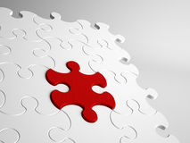 Conceptueel close-up van abstracte puzzel Stock Afbeeldingen