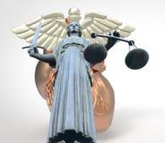 Conceptueel idee van rechtvaardigheid in geneeskunde het 3d Teruggeven Stock Fotografie