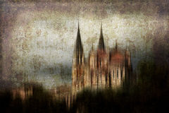 Conceptueel kasteel stock afbeelding