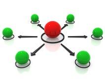 Conceptueel netwerk van gebieden stock afbeeldingen
