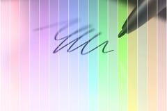Conceptueel ontwerp De naaldpen trekt schets op digitale tablet clo stock afbeeldingen