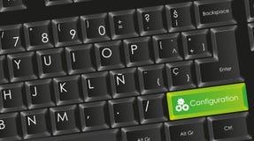 Conceptueel zwart toetsenbord Royalty-vrije Stock Foto