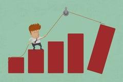 Conceptuele bedrijfsgrafiek Stock Foto's