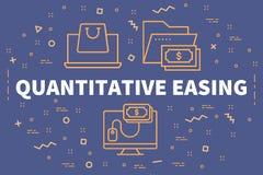 Conceptuele bedrijfsillustratie met woorden kwantitatieve eas royalty-vrije illustratie