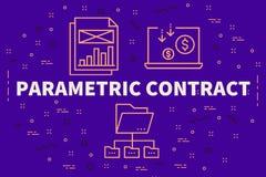 Conceptuele bedrijfsillustratie met woorden parametrische contr royalty-vrije illustratie