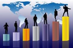 Conceptuele bedrijfsscène Stock Foto