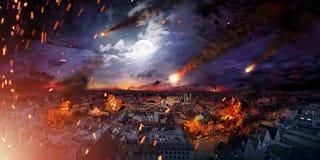 Conceptuele foto van de apocalyps Royalty-vrije Stock Afbeeldingen