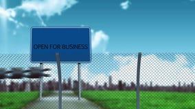 Conceptuele grenzenanimatie voor het bedrijfs openen vector illustratie